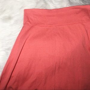 LuLaRoe NWT azure skirt coral size XL solid